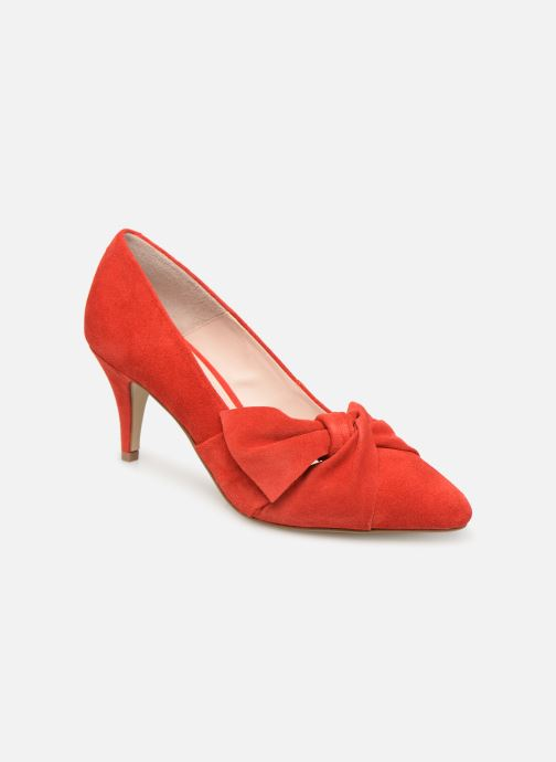 Pumps Bianco 24-50069 Rood detail
