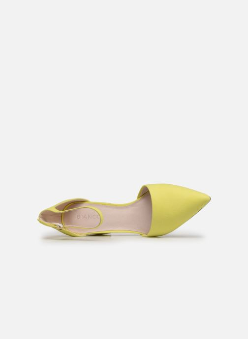 High heels Bianco 24-50105 Yellow view from the left