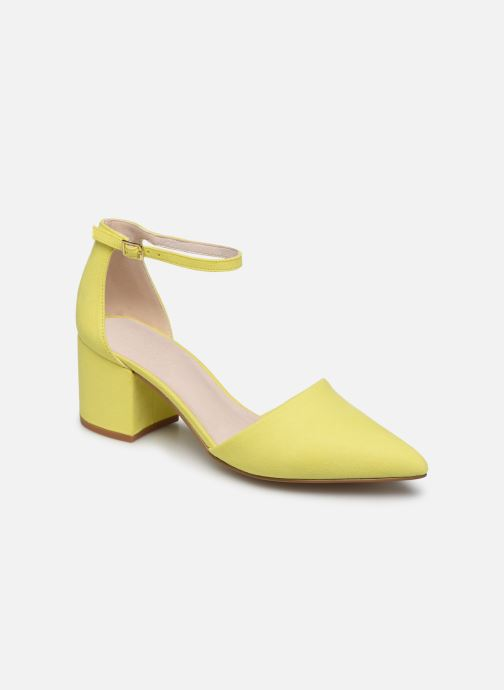 High heels Bianco 24-50105 Yellow detailed view/ Pair view