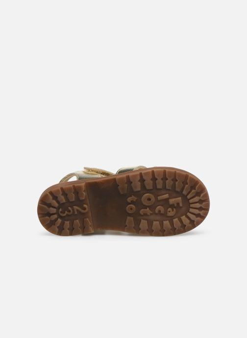 Sandales et nu-pieds Naturino Falcotto Puppet Or et bronze vue haut