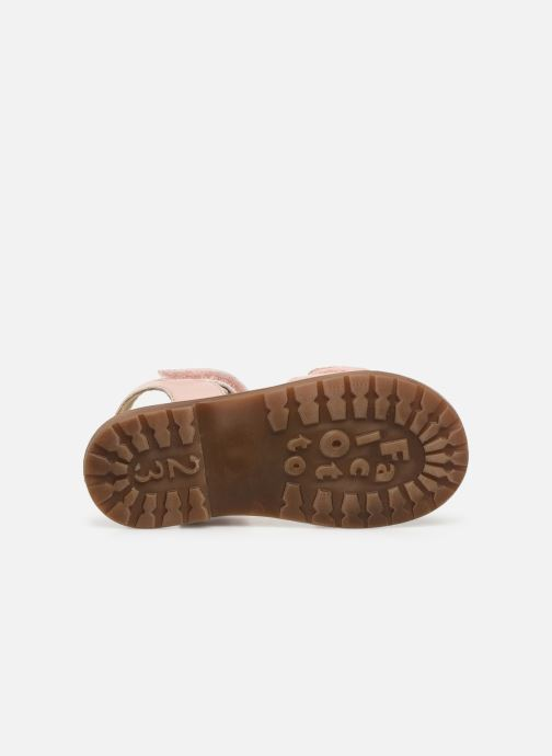 Sandales et nu-pieds Naturino Falcotto Bucket Rose vue haut