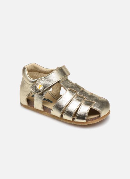 Sandalias Naturino Falcotto Bartlett Oro y bronce vista de detalle / par