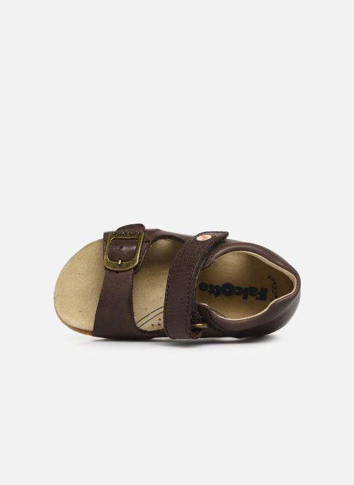 Sandales et nu-pieds Naturino Falcotto Bea Marron vue gauche