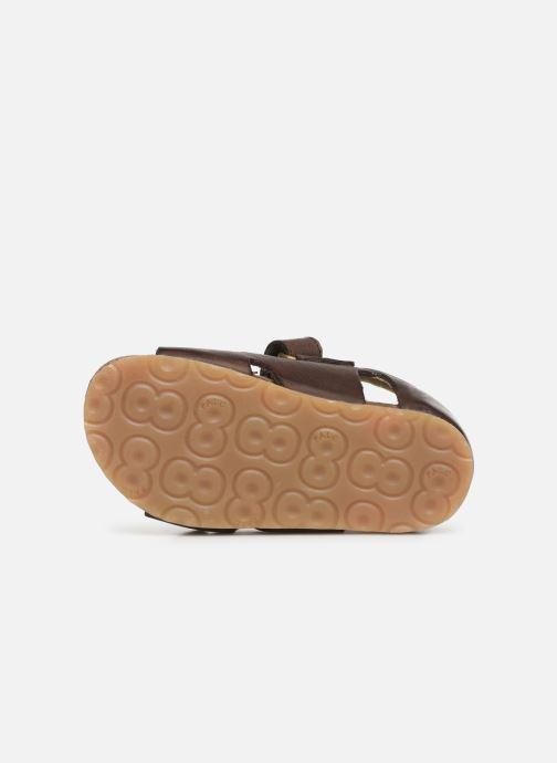 Sandales et nu-pieds Naturino Falcotto Bea Marron vue haut
