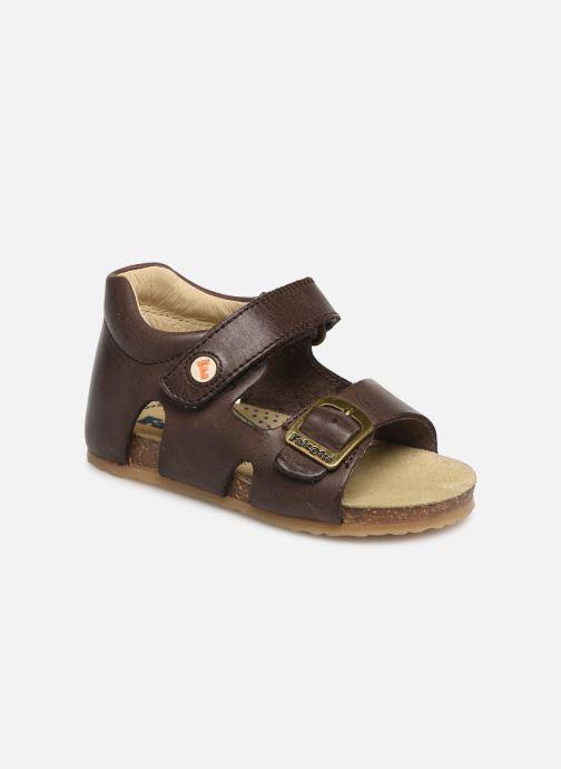 53f9919b78cc Sandaler Naturino Falcotto Bea Brun detaljeret billede af skoene