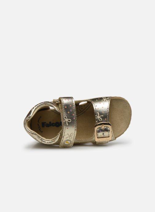Sandales et nu-pieds Naturino Falcotto Bea Or et bronze vue gauche