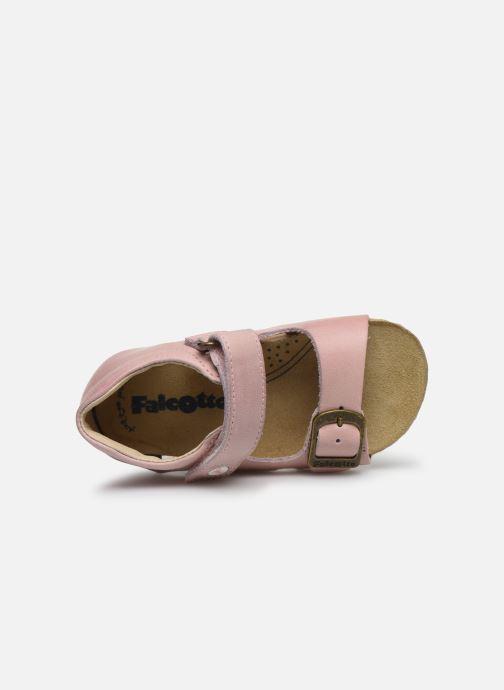 Sandales et nu-pieds Naturino Falcotto Bea Rose vue gauche