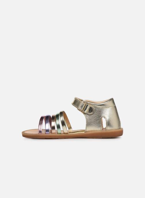 Sandales et nu-pieds Naturino Rubino Or et bronze vue face