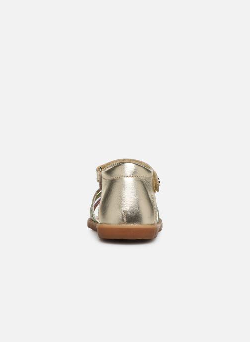 Sandales et nu-pieds Naturino Rubino Or et bronze vue droite