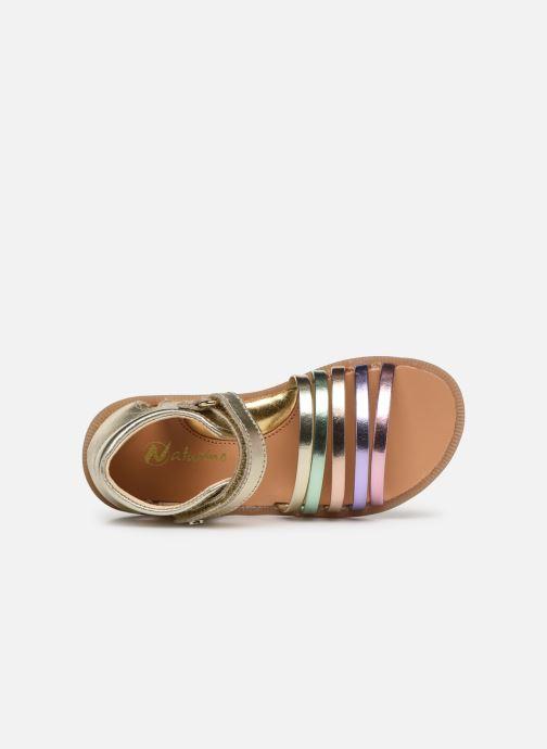 Sandales et nu-pieds Naturino Rubino Or et bronze vue gauche