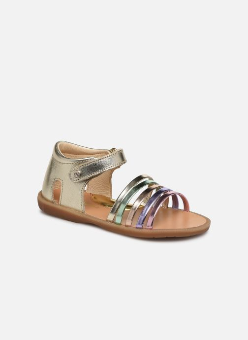 Sandales et nu-pieds Naturino Rubino Or et bronze vue détail/paire