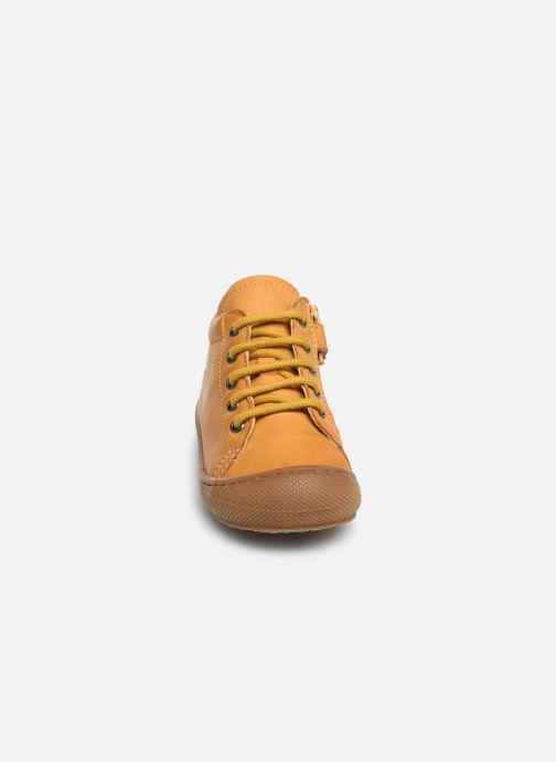 Bottines et boots Naturino Cocoon Zip Jaune vue portées chaussures