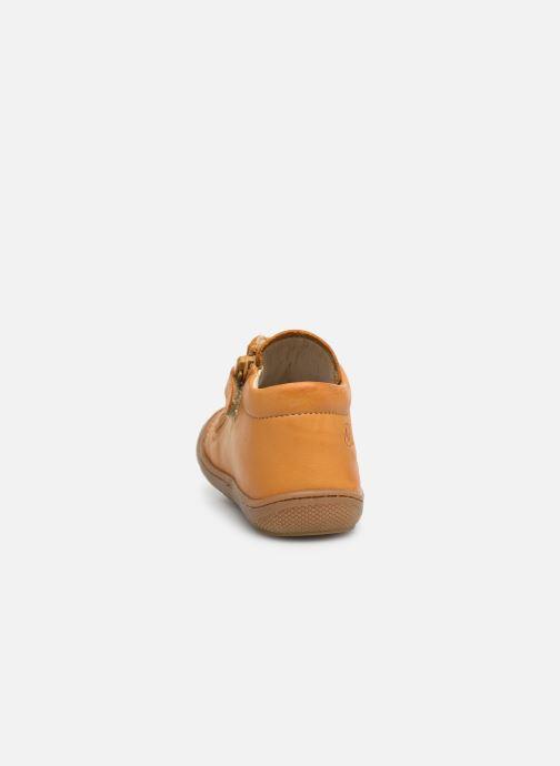 Boots en enkellaarsjes Naturino Cocoon Zip Geel rechts