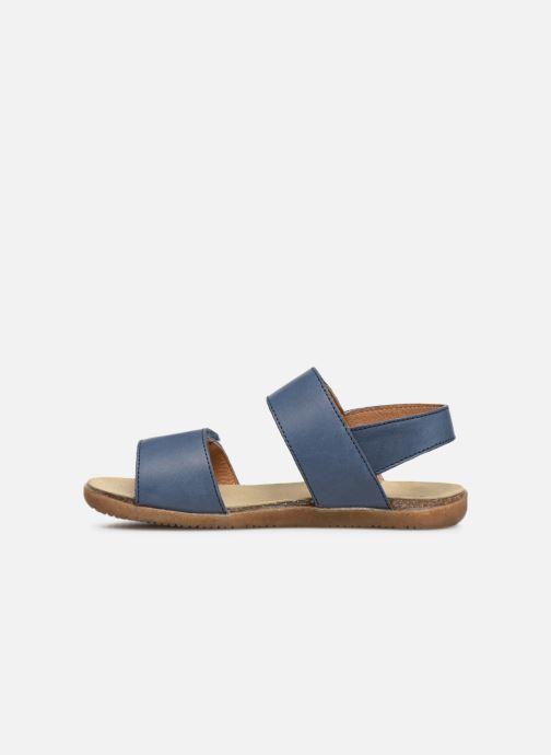 Sandales et nu-pieds Naturino Bush Bleu vue face