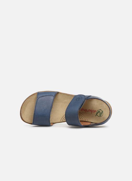 Sandales et nu-pieds Naturino Bush Bleu vue gauche