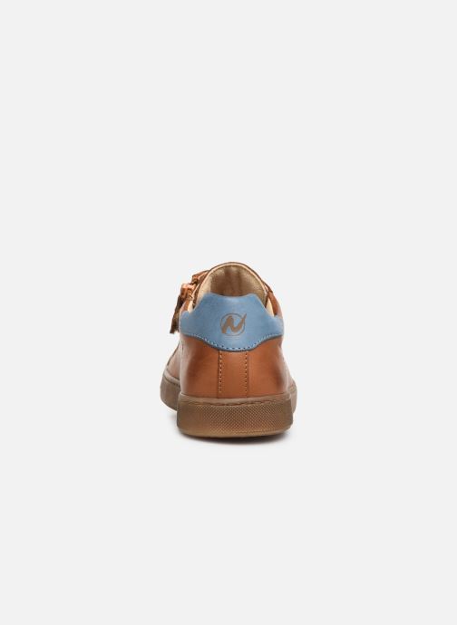 Trainers Naturino Eindhoven Zip Brown view from the right