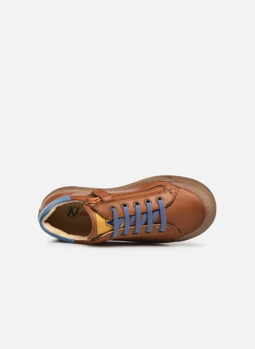 Trainers Naturino Eindhoven Zip Brown view from the left