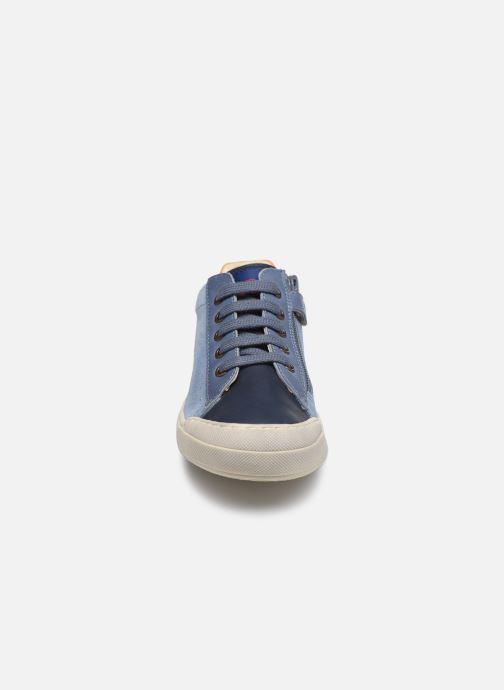 Sneaker Naturino Eindhoven Zip blau schuhe getragen