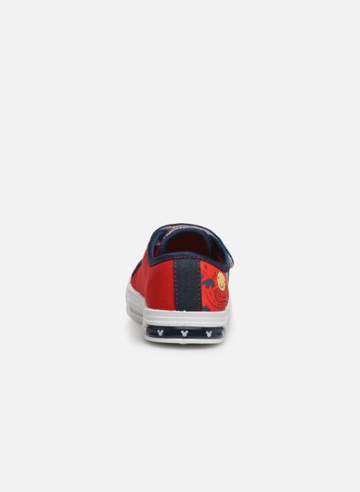 Baskets Mickey Neron Rouge vue droite