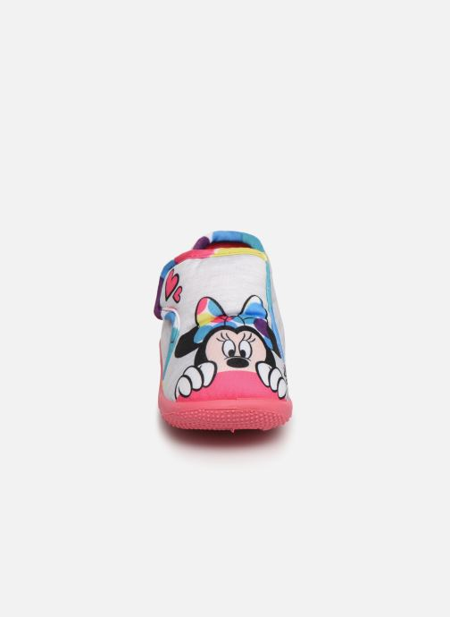 Chaussons Mickey Saturnin Gris vue portées chaussures