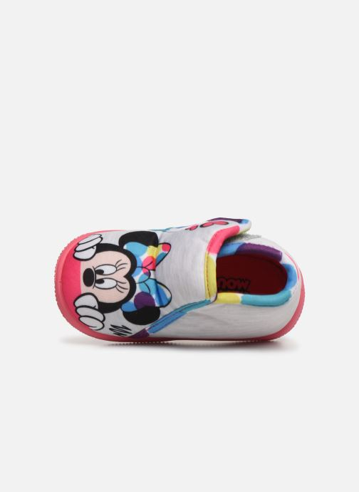 Slippers Mickey Saturnin Grey view from the left