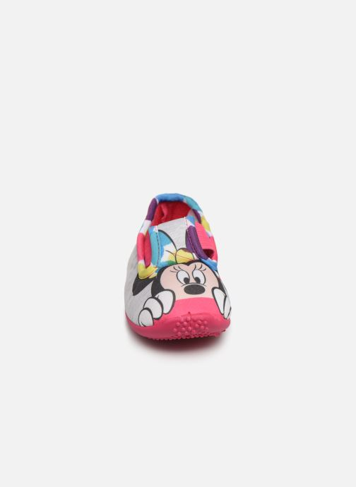 Chaussons Mickey Mouse Soam Gris vue portées chaussures