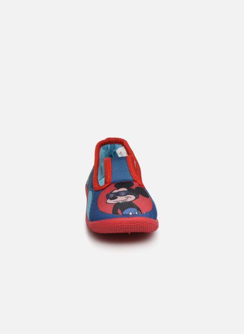 Chaussons Mickey Soam Bleu vue portées chaussures