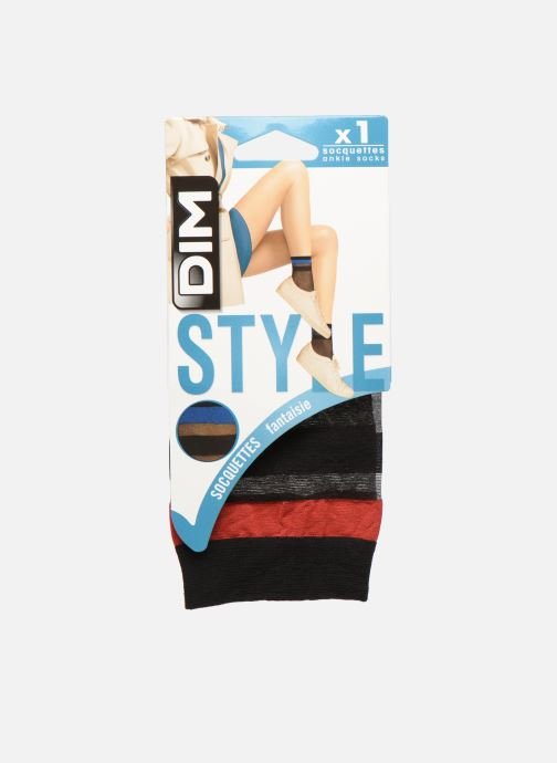 Chaussettes et collants Dim Socquettes SPORTY LOOK 20D Noir vue détail/paire