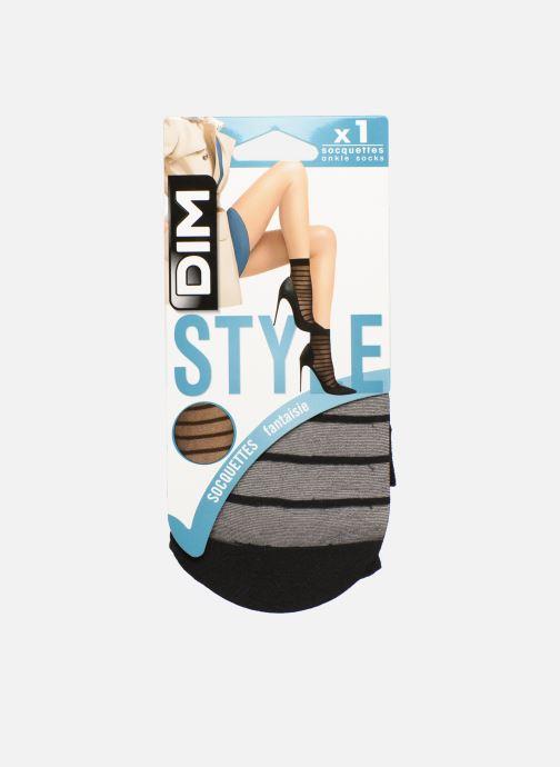 Sokken en panty's Dim Socquettes Rayures Zwart detail