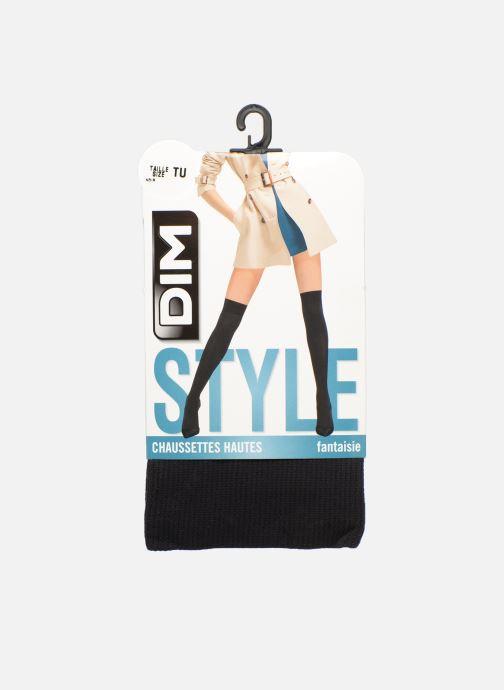 Sokken en panty's Dim Chaussette Haute Opaque Unie 40D Zwart detail