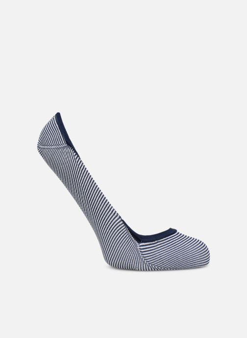 Chaussettes et collants Dim Protège-Pieds Rayures Bleu vue portées chaussures