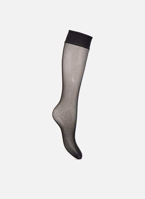 Chaussettes et collants Dim Mi-bas Résille Noir vue portées chaussures