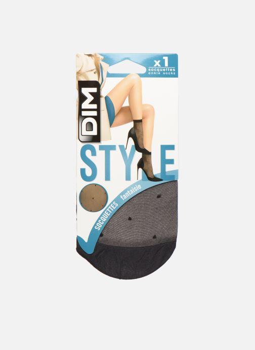 Sokken en panty's Dim Socquettes Plumetis Zwart detail