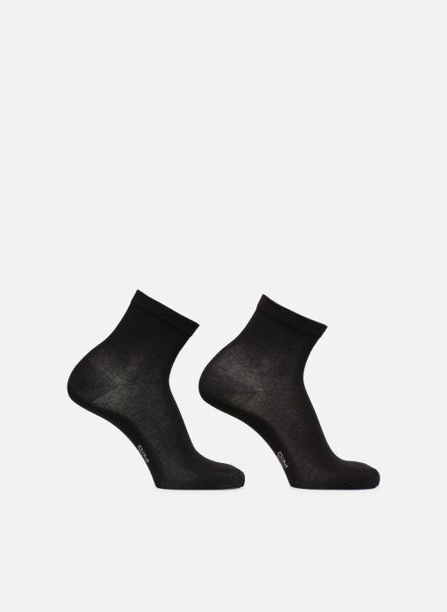 Sokken en panty's Dim Socquette Coton Lot de 2 Zwart model