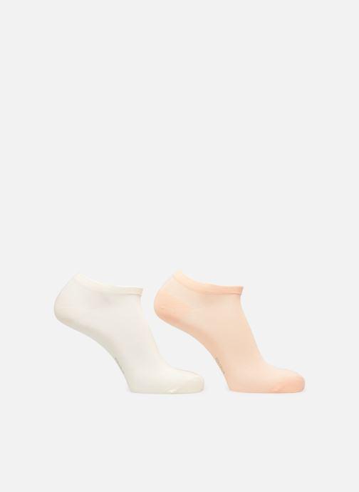 Chaussettes et collants Dim Socquette Courte Coton Lot de 2 Orange vue portées chaussures
