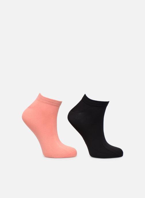 Chaussettes et collants Dim Socquette Courte Skin Pack de 2 Rose vue portées chaussures