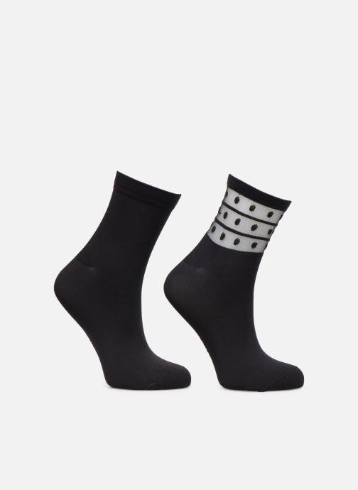 Chaussettes et collants Dim Socquette Skin Fancy Lot de 2 Noir vue portées chaussures