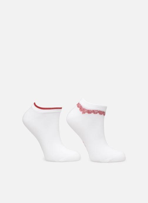 Chaussettes et collants Dim Socquette Courte Bracelet Précieux  Lot de 2 Blanc vue portées chaussures