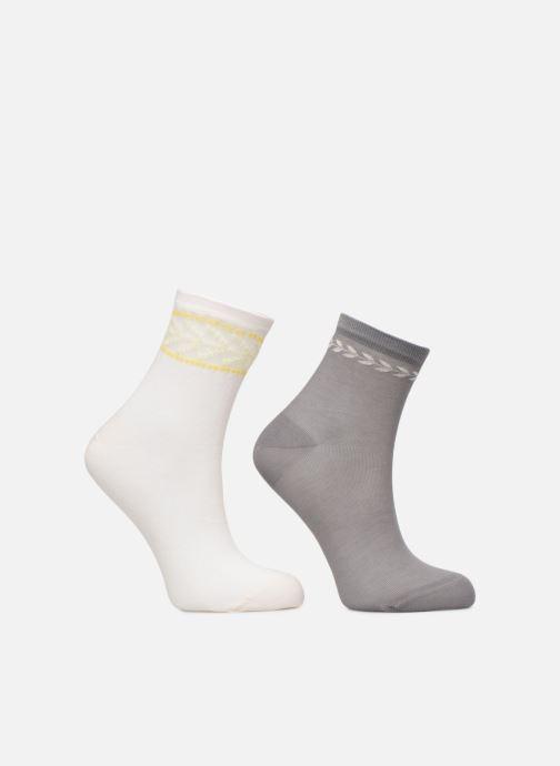 Sokken en panty's Dim Socquette Coton Style Bracelet Effet Brodé Lot de 2 Grijs model