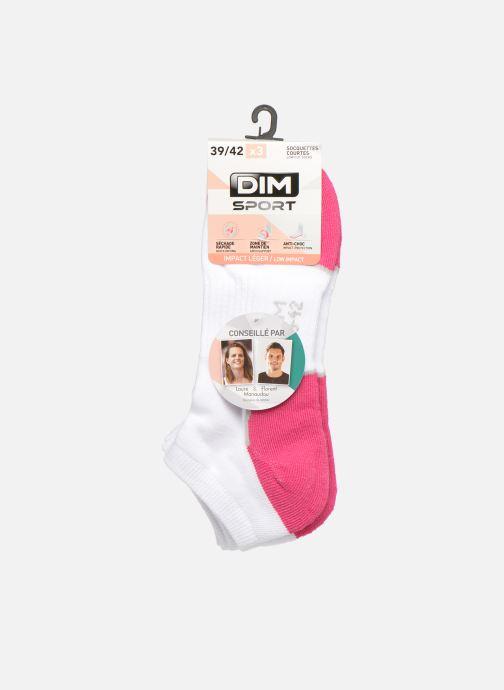 Sokken en panty's Dim Socquette Sport Sneaker Impact Léger Lot de 3 Wit detail