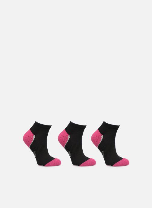 Chaussettes et collants Dim Socquette Sport Sneaker Impact Léger Lot de 3 Noir vue portées chaussures