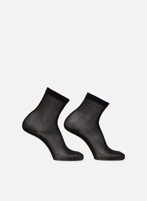 Strumpor och strumpbyxor Dim Chaussette Light Coton Lot de 2 Svart bild av skorna på