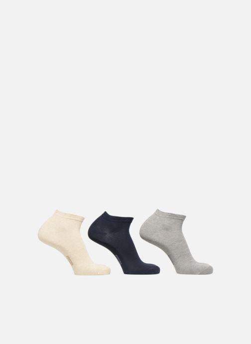 Chaussettes et collants Dim Socquette courte coton Lot de 3 Bleu vue portées chaussures