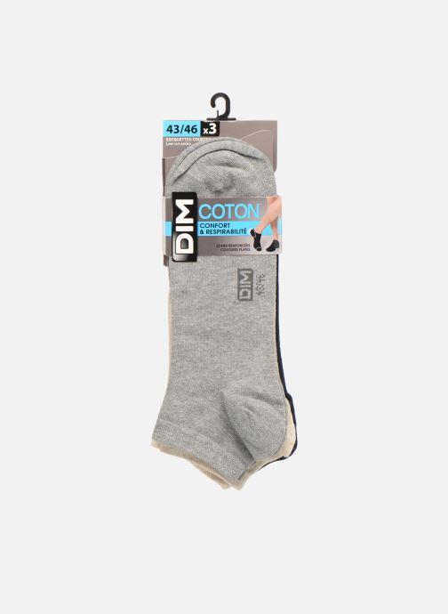 Chaussettes et collants Dim Socquette courte coton Lot de 3 Bleu vue détail/paire