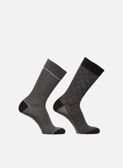 Chaussettes et collants Dim Chaussette Coton Style Motif Tribal Lot de 2 Noir vue portées chaussures