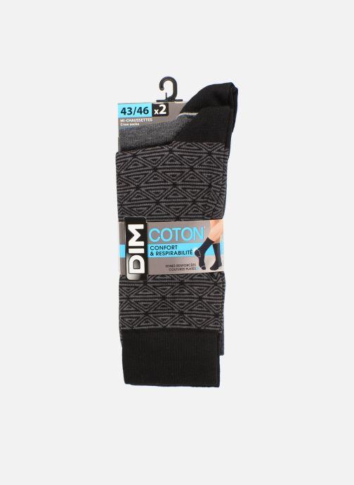 Chaussettes et collants Dim Chaussette Coton Style Motif Tribal Lot de 2 Noir vue détail/paire