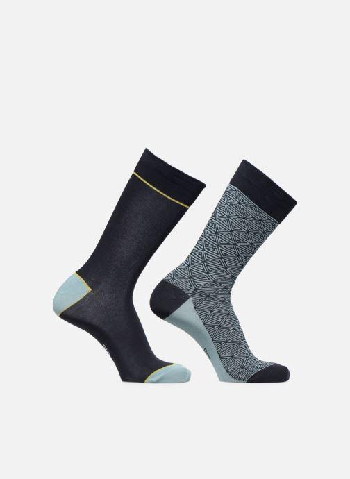 Chaussettes et collants Dim Chaussette Coton Style Motif Tribal Lot de 2 Bleu vue portées chaussures