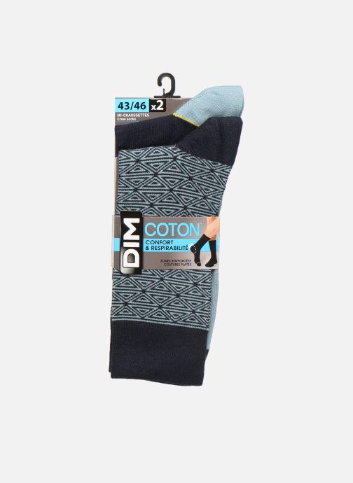 Chaussettes et collants Dim Chaussette Coton Style Motif Tribal Lot de 2 Bleu vue détail/paire