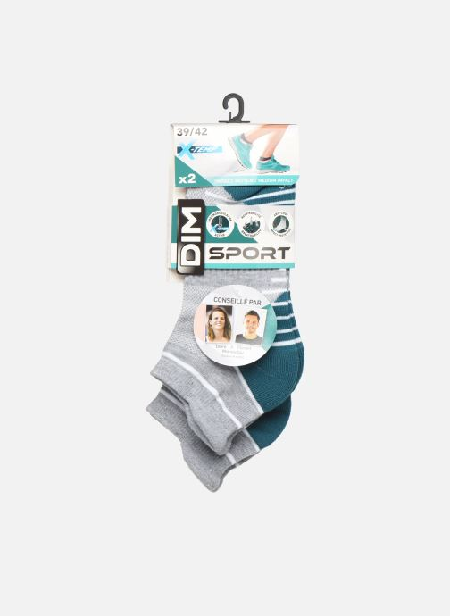 Chaussettes et collants Dim Socquette Courte Impact Moyen Lot de 2 Gris vue portées chaussures