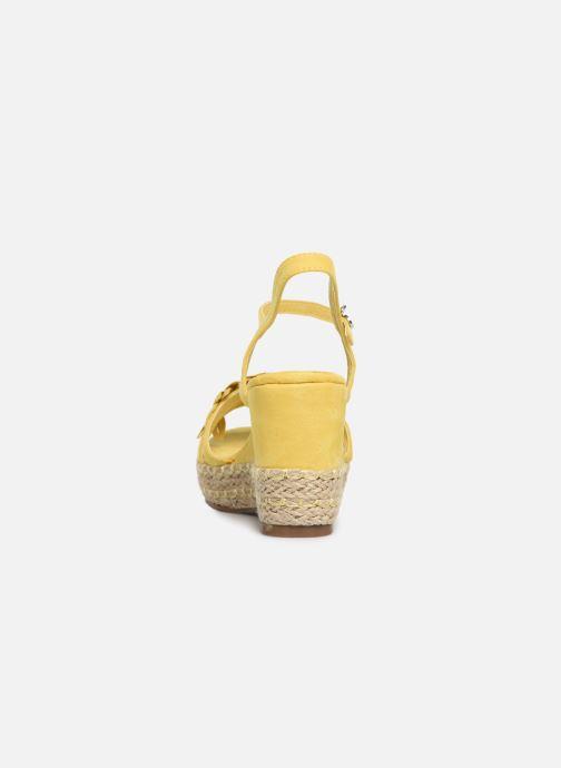 Sandales et nu-pieds Xti 35040 Jaune vue droite